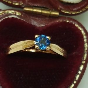 Jewelry - Antique 14k Gold .25ct  Blue Spinel Ring